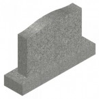 "Grey granite Serp Die:48"" x 6"" x 24"" / Base:60"" x 12"" x 6"""