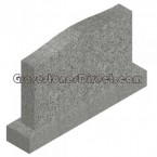 "Grey granite Serp Die:42"" x 6"" x 20"" / Base:54"" x 12"" x 6"""
