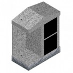"Grey granite 2 Niches Columnbaria 32"" x 17"" x 37.5"""